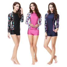 Swimsuit Clothing Hijab Muslim-Set Swim-Wear Women for Top And Bottom-Shorts Two-Piece