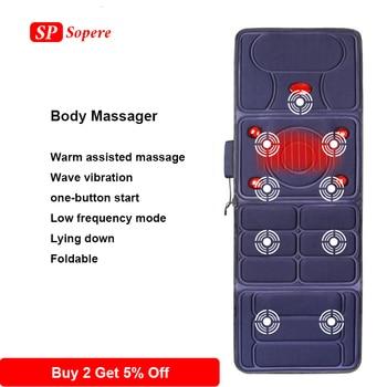 Body Massage Mattress Cusion Multi-function Electric Heating Illow Massager Head Massager Health Care Vibrator Back Massager