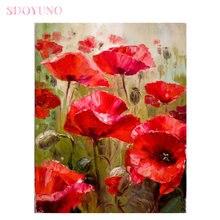 Картина маслом по номерам sdoyuno набор цветов для взрослых