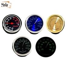 YOLU Mini Car Automobile Thermometer  Digital Auto Automotive Decoration Ornament Clock In Accessories