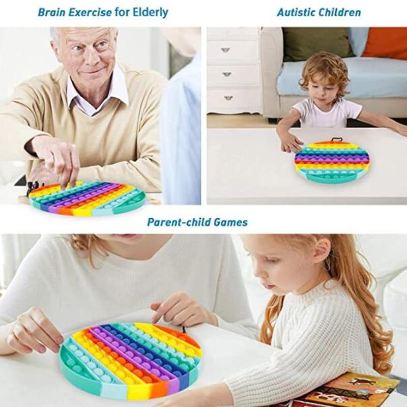 Fidget-Toys Pendant Schoolbag Relief-Toy Bubble Anti-Stress Squishy Pop-It-Push Popit Soft img4