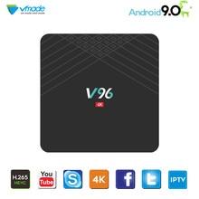 Vmade الذكية صندوق تليفزيون صغير أندرويد 9.0 OS ثماني النواة H.265/HEVC 4k Allwinner H6 رباعية النواة 2g/16g دعم 1.5 ghz واي فاي فك التشفير