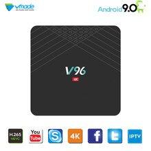 Vmadeスマートミニtvボックスアンドロイド9.0 osオクタコアH.265/hevc 4 2k allwinner H6クアッドコア2グラム/16グラムサポート1.5 ghzの無線lanセットトップボックス