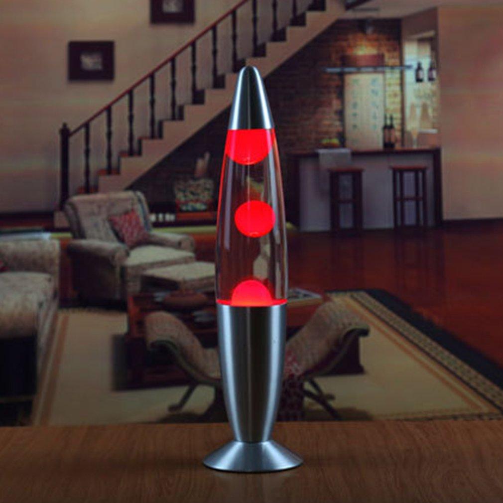 Lámpara de Lava con Base de Metal bonita, lámpara de cristal con cera estilo volcán, luz nocturna, medusas, luz nocturna, lámparas de iluminación de Lava