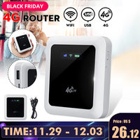 Portable 4G WiFi Router Mini Lte Router 5200mAh Battery Power Bank Pocket Hotspot Car Mobile With Sim Card Slot