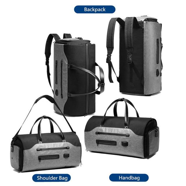OZUKO Travel Bag Multifunction Men Suit Storage Large Capacity Luggage Handbag Male Waterproof Travel Duffel Bag Shoes Pocket 2