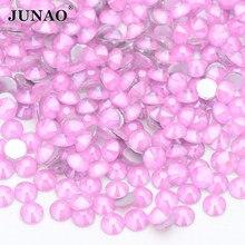 JUNAO SS6 SS16 SS20 SS30 Mocca różowe szkło kolorowe Flatback Rhinestone okrągłe kryształowe kamienie Non Hot Fix diament Strass DIY rzemiosło
