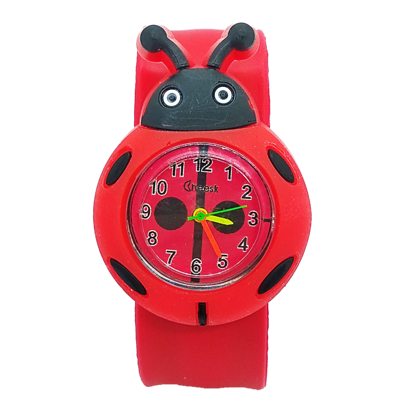 Children's Watches Cartoon Ladybug Toys Boys Girls Lovely Gift Anime Patted Quartz Wristwatches Kids Watch Silicone Child Clock