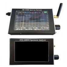 Full English Spectrum Analyzer 35M-4400M Handheld 4.3 inch LCD display(China)