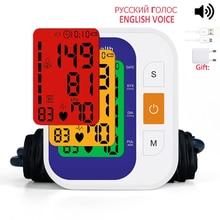 Automatico Digitale Superiore Del Braccio di Pressione Sanguigna BP Monitor di Battimento di Cuore Vota Pulse Meter Tonometro Sfigmomanometri home medical