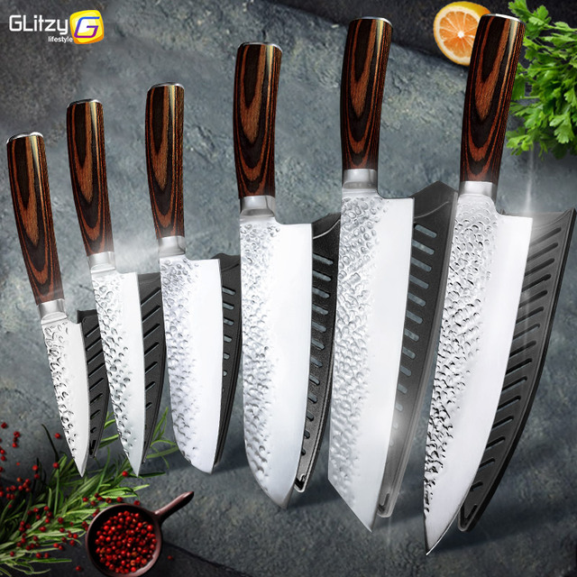 Japanese 7CR17 Stainless Steel Chef Knives 1