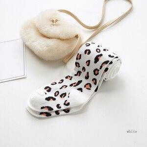 Прямая поставка; От 2 до 9 лет-осенние детские обтягивающие колготки; Мягкие штаны для маленьких девочек; милые эластичные колготки с леопардовым принтом