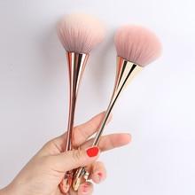 Розовая Золотая кисть для пудры, румян, Большая косметическая Кисть для макияжа лица, Тональная основа для лица, кисть для женщин, Профессиональные кисти для макияжа, инструменты