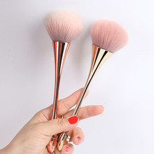 Rose Gold Powder Blush Brush Large Cosmetic Face Make Up Brushes Foundation Facial Brush Woman Professional Makeup Brushes Tools