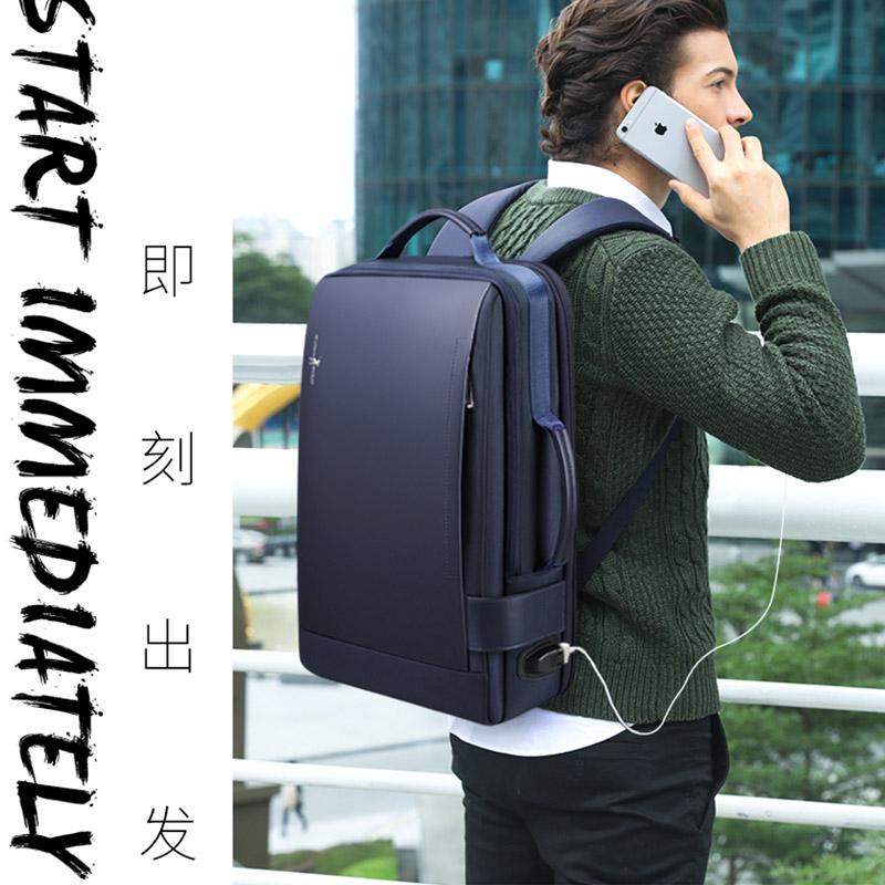 Laptop Backpacks With External USB Fashion School Bag Unisex Zipper Polyester Soft Back Waterproof Backpack 20kg