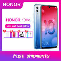 "Honor 10 Lite Global Rom Android 9.0 6.21 ""FHD 2340X1080 double police arrière 24MP AI caméra empreinte digitale 710 Octa Core"
