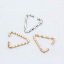 100p 12mm 18mm ouro prata metal triângulo saltar anel fiança pitada pingentes pingentes bails para fazer jóias grânulo conectores clipes
