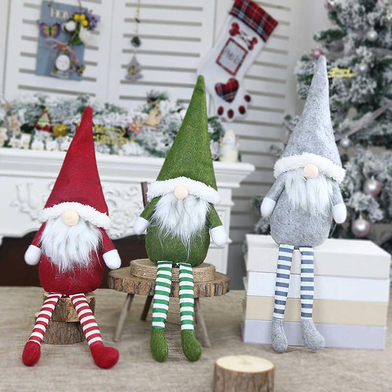 Babbo natale Pupazzo di Neve Ornamenti Di Natale Buon Natale di Favore di Partito Decorazioni per la Casa Regali di Nuovo Anno