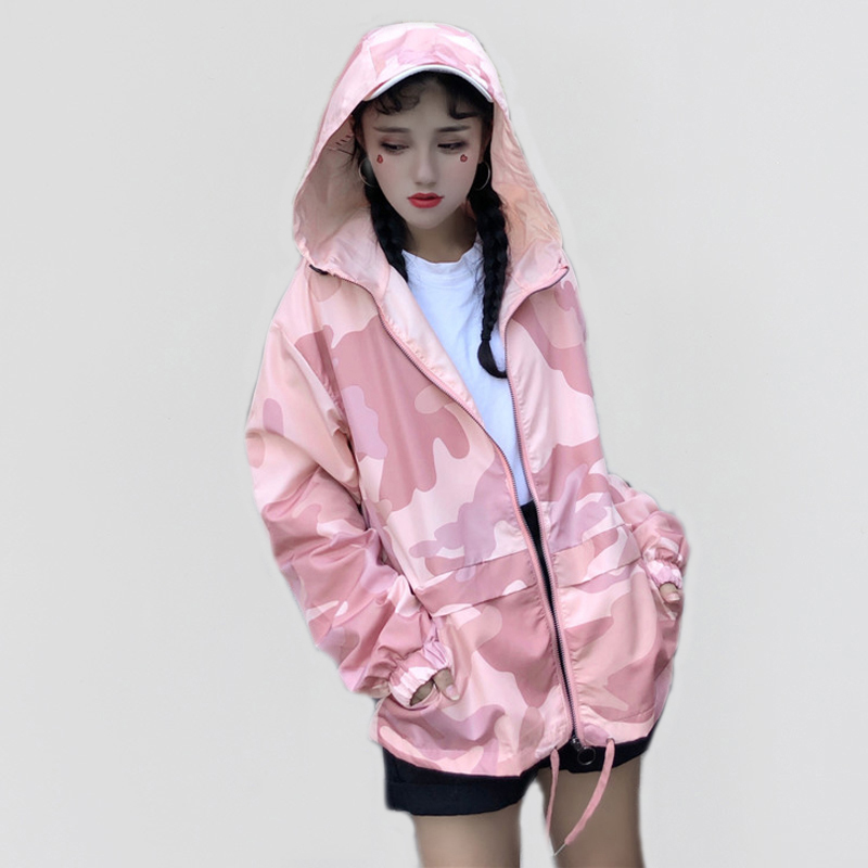 Hooded Windbreaker   Jacket   Women Summer Coats Long Sleeve   Basic     Jackets   Bomber Women's   Jacket   Casual Female   Jackets   Outwear