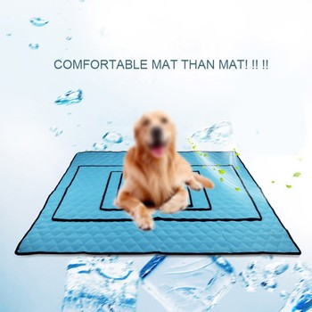 Pet Soft Summer Cooling Mats Pet Dog Blanket Auto Cooling Car Seat Cushion Resists Tearing Non Slip Cushion image