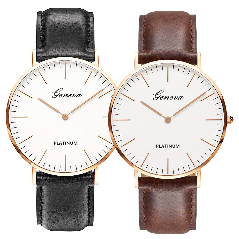 Top Luxury Brand Geneva Watches For Men And Women Couple Watch Bracelet Ladies Watch Valentine's Day Gift Student Exam Clock