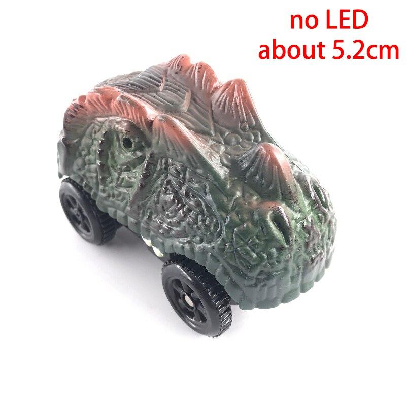 4,4-5,4 см волшебная Электроника светодиодный игрушечный автомобиль с мигающими огнями Развивающие игрушки для детей подарок на день рождения игра с треками - Цвет: no LED