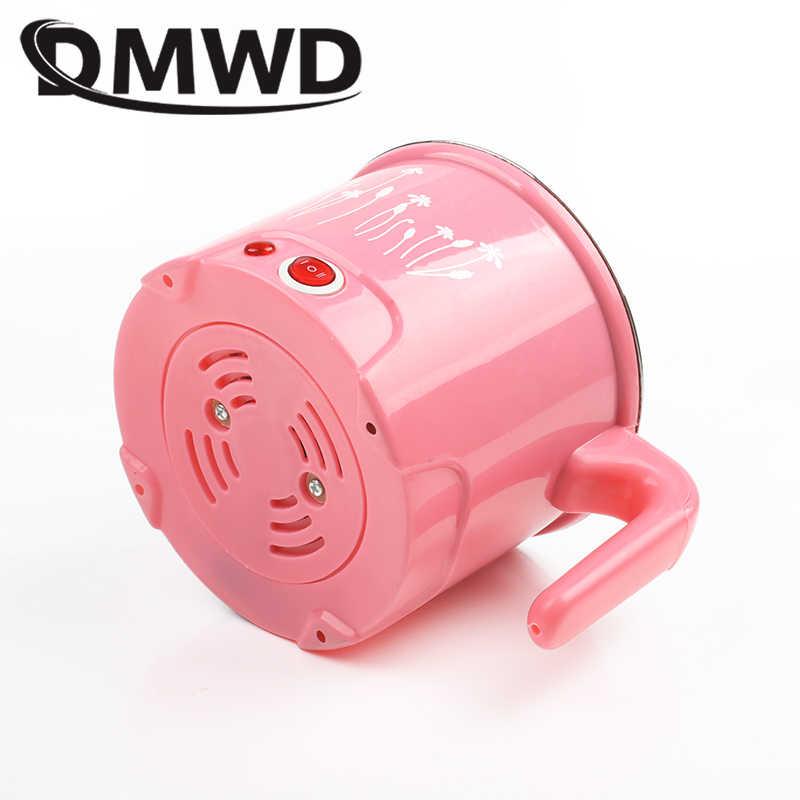 DMWD multifonction électrique poêle en acier inoxydable Hotpot nouilles cuiseur à riz oeuf vapeur soupe marmite MINI chauffage casserole 1.5L