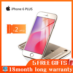 Apple iphone 6 plus smartphone 16 gb/64 gb/128 gb rom 5.5 tela móvel wifi gps 4g lte telefone inteligente iphone 6 plus