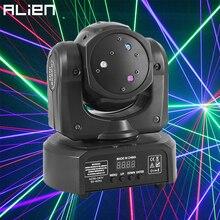 ALIEN DMX 512 RGB Fascio Scanner Discoteca del DJ In Movimento Testa Proiettore Laser Del Partito di Festa di Natale di Cerimonia Nuziale di Ballo di Effetto di Fase di Illuminazione