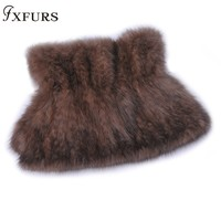 2019 New Knitted Mink Fur Neckwear Real Sable Fur Wraps 100% Real Fur Scarves High end Women Winter Warm Fur Rings