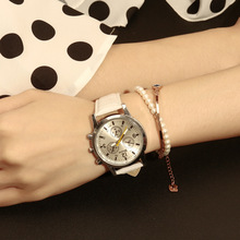 MODIYA Brand Popular Geneva Three-eye Six-Needle Women's Watches Fashion Casual