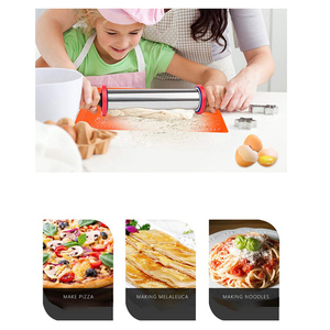 Image 3 - Large Adjustable Stainless Steel Rolling Pin with 3 Removable Thickness Rings, Kitchen Tool with Plastic Handle, Gadget for Kid