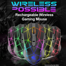 Mouse Rechargeable Mice Adjustable Silent Wireless 2400 Play RGB DPI And Luminous X9