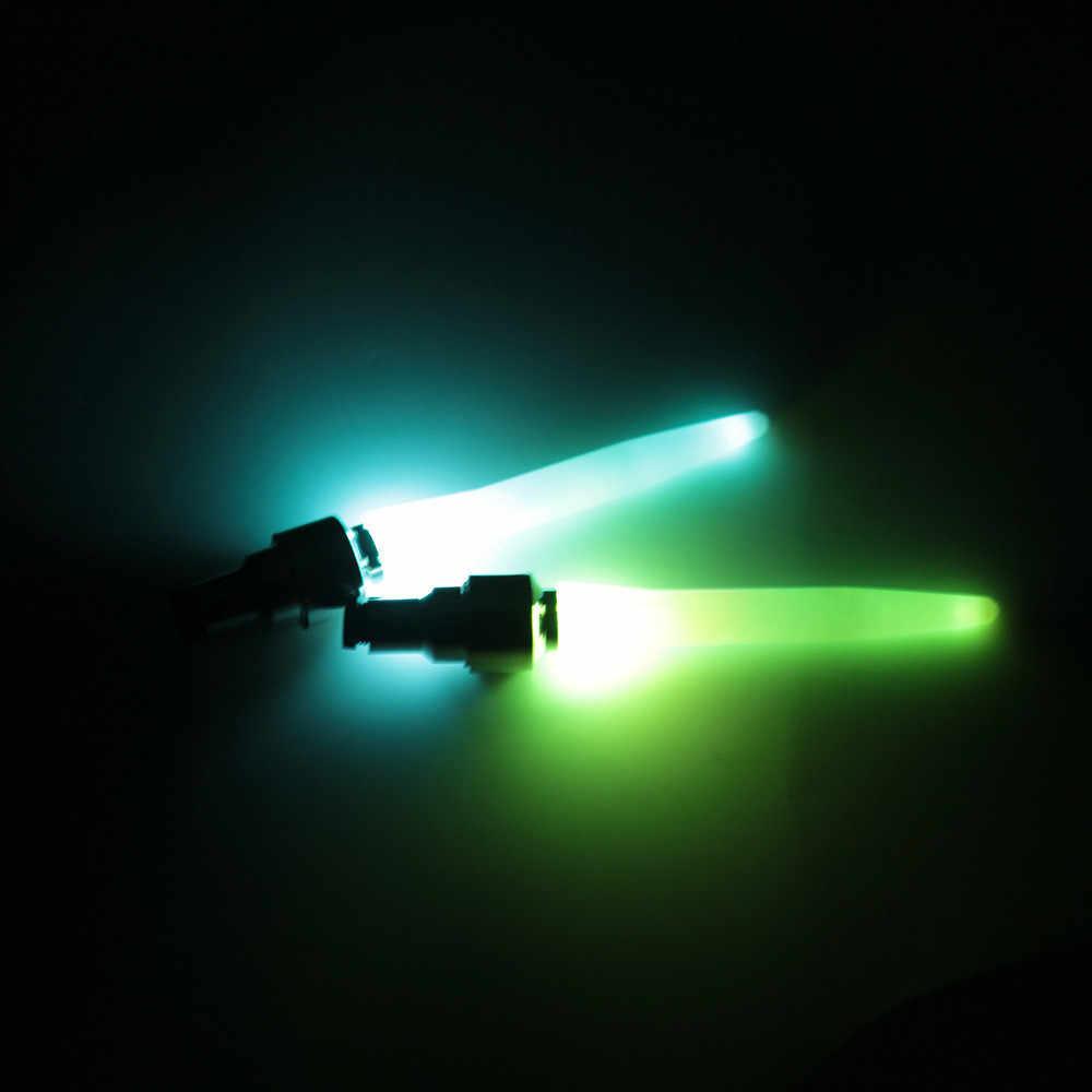 2 uds gran oferta motocicleta coche bicicleta Válvula de rueda neumático tapa Flash LED Luz Accesorios de la lámpara Auto-estilismo al por mayor