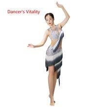 Costume de danse du ventre pour femme, soutien gorge et jupe fendue, vêtement de Performance professionnelle Sexy haut de gamme, vêtement pratique, printemps et été