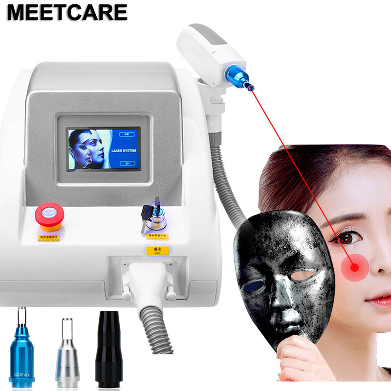 1064nm 532nm 1320nm Nd Yag Laser Tattoo Remover Machine Painless Removal Of Tattoo Pigment Face Massage Device With Red Pointer