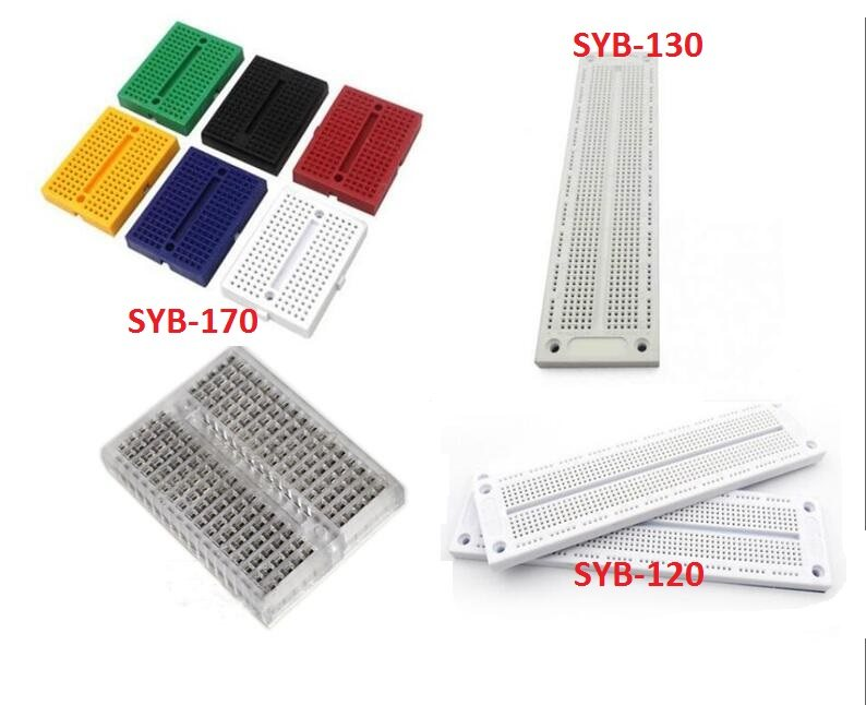 5Pcs Solderless Prototype Breadboard 170 Tie-points für Arduino Dovetail Slot