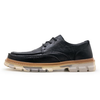 Men Casual leather shoes Work Safety Shoes Winter Waterproof leather boots imitation steel nails thickened hard shoes