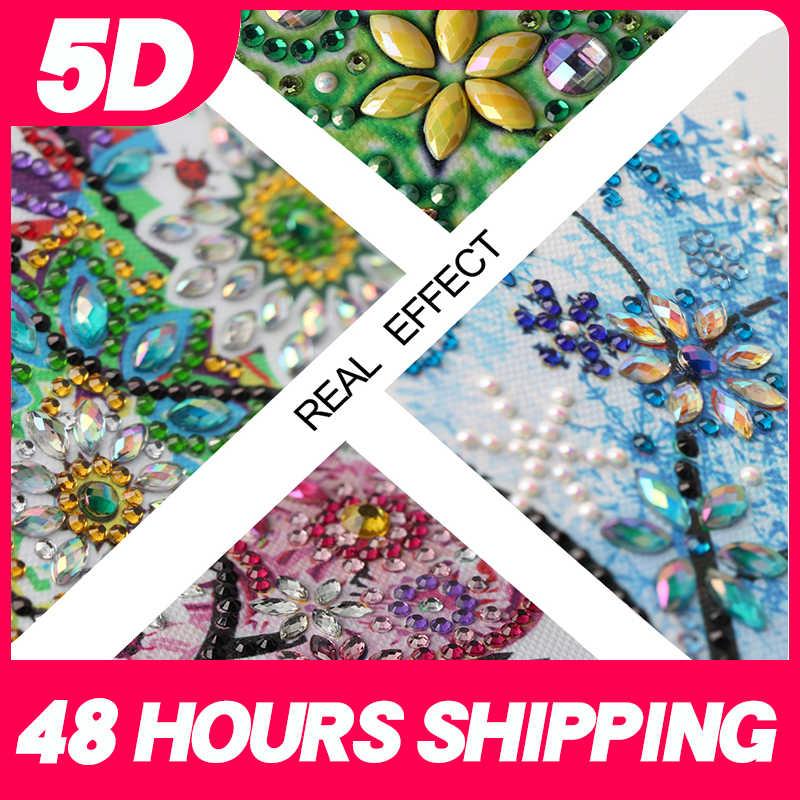 Meian מיוחד בצורת אמנות פרחי עץ dotz 5d diy יהלומי ציור סט רקמת קריסטל תרגיל חדש כניסות