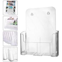 Transparent Acrylic Business Card Holder Brochure Desk Bank Credit Holder Office Display Transparent Stand Pamphlet