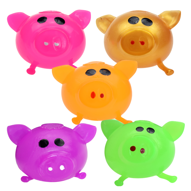 1PC Funny Anti Decompression Splat Ball Vent Toy Venting Ball Sticky Smash Water Ball Anti Stress Goods Various Types Pig Toys