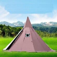 Piramide Tenda con Un Camino Del Foro/Una Torre Fumo Finestra Tenda Parco di Sopravvivenza Doppio Strato Tenda da Campo Includono Un mezza Tenda Interna