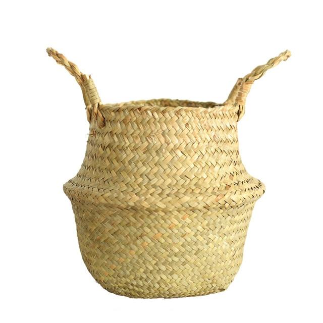 2021top home decor Seagrass Wicker Basket Wicker Basket Flower Pot Folding Basket Dirty Basket WH товары для дома 6