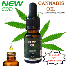 10ml 500mg-3000mg CBD Essential Golden Hemp Oil Over 99% Purity Quick Effect for insomnia and anxiety also relief pain