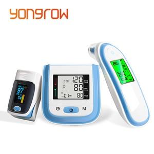 Image 1 - Yongrow Digital Fingertip Pulse Oximeter SpO2 Wrist Blood Pressure Monitor Ear Infrared Thermometer Family Health Care Oxygen PR