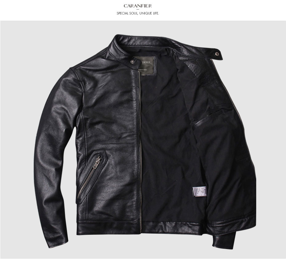 H94117c825fe9484aa32ba96245923207a CARANFIER DHL Free Shipping Mens 100% Cowhide Genuine Leather Jacket High quality old retro motorcycle leather jacket 3XL