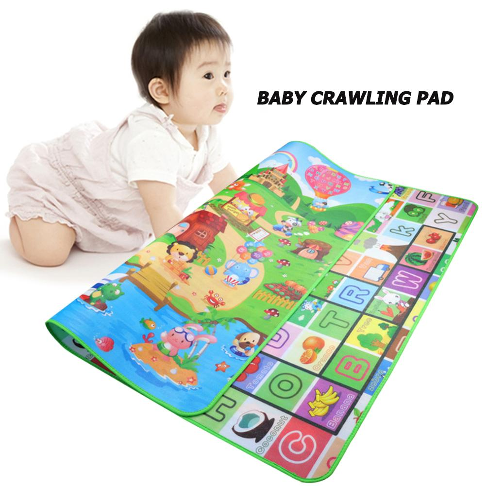 Portable 0.5cm Infant Crawling Mat Play Cushion Puzzle Carpet Outdoor Travel Pad Environmental Protection And Non-toxic