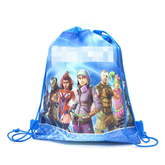 5/10/20PCS Multi-style Castle Game Eat Chicken Party Drawstring bag for Kid Travel Package School Backpack Birthday Party Favors