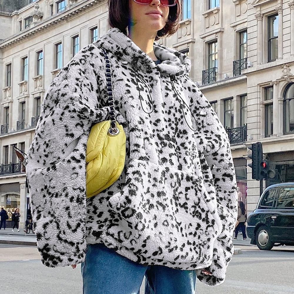 Black Friday Women Hooded Sweatshirt Coat Long Sleeve Fleece Sweatshirt Fall Thicken Warm Hoodie Pullover Loose Tops Damska INS