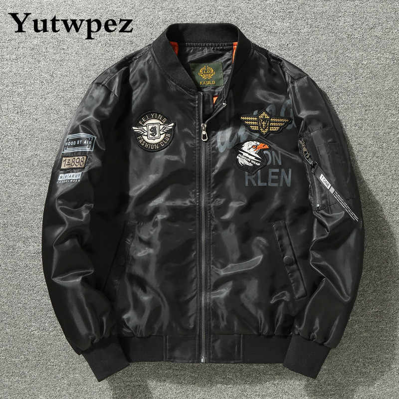 USA Flag Army Bomber Jackets Men Blue Angels Flying Tigers Air Force Pilot Coats Windbreaker Hip Hop Men Cloth Dropshipping 2019
